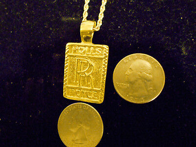 bling gold plated car sign rolls royce pendant charm hip hop necklace JEWELRY GP