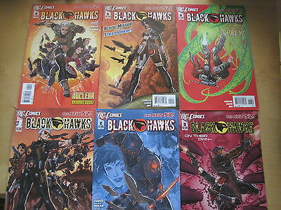 BLACKHAWKS   #s 1,2,3,4,5,6.  ALL  1st   PRINTS.    THE NEW 52 !     DC.  2012