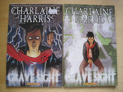 CHARLAINE HARRIS :GRAVE SIGHT : BOOKS 1,2. AUTHOR of SOOKIE STACKHOUSE. DYNAMITE