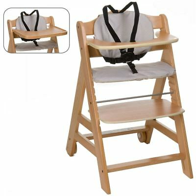 Hauck NATURAL BETA +B GO WITH YOU WOODEN HIGHCHAIR Baby/Toddler/Child 6m-10y BN