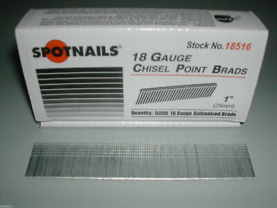 "18 Gauge 1"" Inch Brad Nails Brads Spotnails (50,000)"