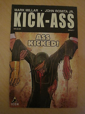 KICK - ASS  #  7  by MARK MILLAR & JOHN ROMITA JR.  ICON. 2009