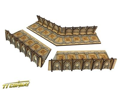 TTCombat: Tabletop Scenics - Fortified Trench Large Corner Sections