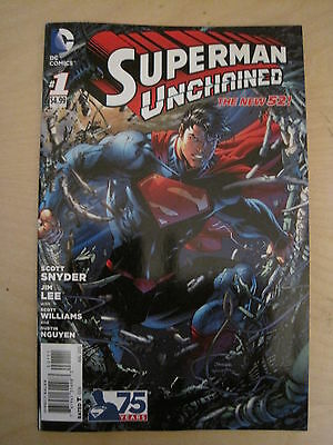 SUPERMAN UNCHAINED 1. 1st PRINT + POSTER.  by SNYDER & LEE.THE NEW 52 ! DC.2013