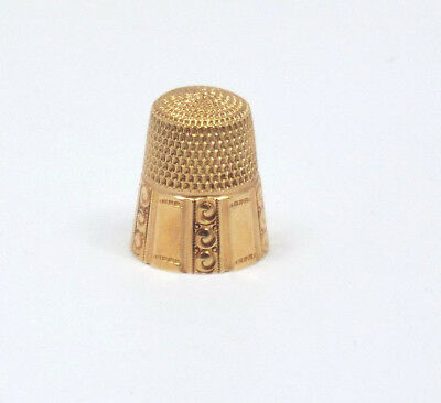 Antique Solid 14k Gold Thimble Goldsmith Stern & Co, 5.2g