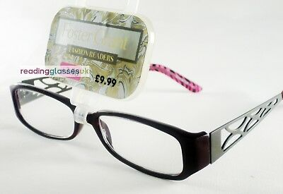 Womens FOSTER GRANT Reading Glasses 'Untamed Red' Metal +1.5 +2.0 +2.5  RRP£9.99