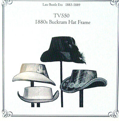 Truly Victorian TV550 Sewing Pattern for buckram hat frame and hat New and Uncut
