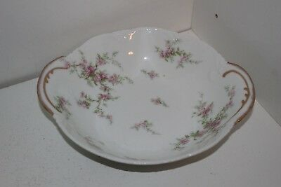 "Vintage Theodore Haviland Limoges France Handled Round 8"" Serving Bowl"