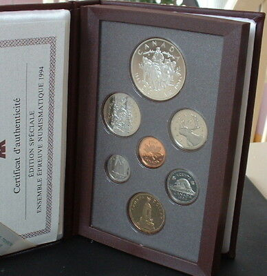 Canada  1994   Proof Double Dollar Red Set  **7 Coins**