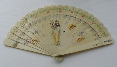 Rare Old China Antique Chinese Hand Fan !!!