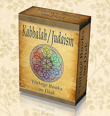 Jews Judaism - 100 Rare Books On DVD - Jewish Tradition Hermetic Philosophy 293