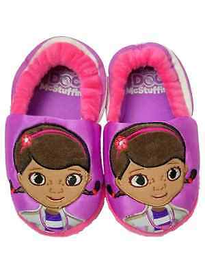 53572daa8d8 Disney Doc McStuffins Purple Toddler Girls Slippers Loafer House Shoes