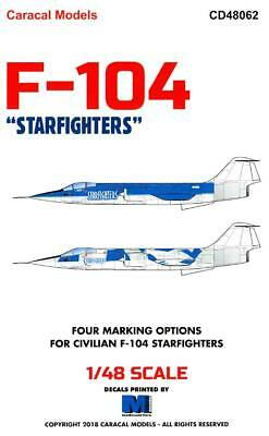 Caracal Decals 1/48 LOCKHEED F-104CSTARFIGHTER IN CIVILIAN MARKINGS