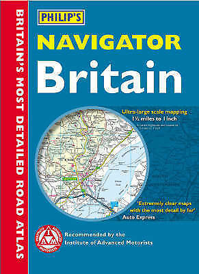 (Good)-Philip's Navigator Road Atlas Britain: Digital Edition (Paperback)--05400