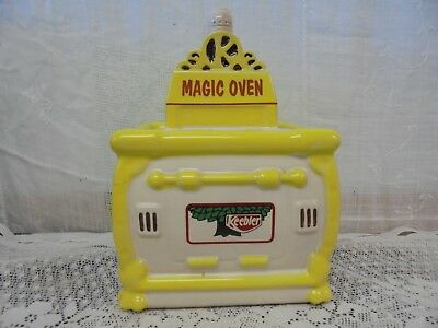 Magic Oven Keebler Advertising Cookie Jar w/ Lid 1996 Pottery Kitchen Canister