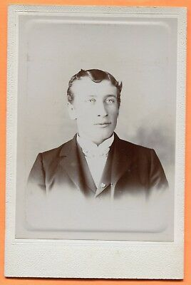 Portrait of a Young Man, circa 1890s Old Cabinet Card