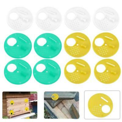 12 Pcs Beekeepers Bee Hive Door Entrance Disc Reducer Rotating Bee Nest Gate