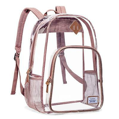 15.6 inch Clear Backpack with Cosmetic Bag Case School Backpack Outdoor Bookbag