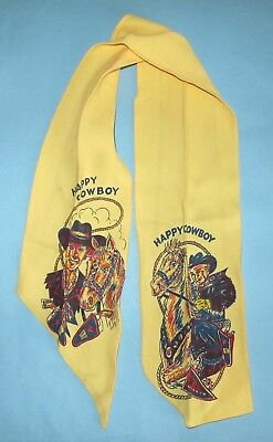 VINTAGE - 1950's - CHILD'S COWBOY NECKERCHIEF SCARF - VERY NICE