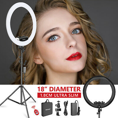 "Neewer 1,3cm Ultra Fin 18"" LED Anneau Lumineux Ring Light Kit (Noir)"
