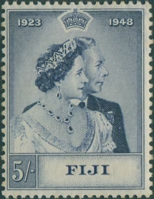 Fiji 1948 SG271 5/- Silver Wedding KGVI MH