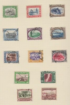 SOUTH WEST AFRICA 108a-120a singles 1931-1937 used