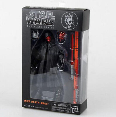 "Boxed Darth Maul:Star wars the Black Series 6"" Action Figure Xmas gift Kids toy"