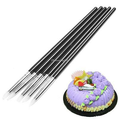 Cake Silicone Gel Brush Fondant Cake Decoration Shaping Pens Cake Pastry C1MY