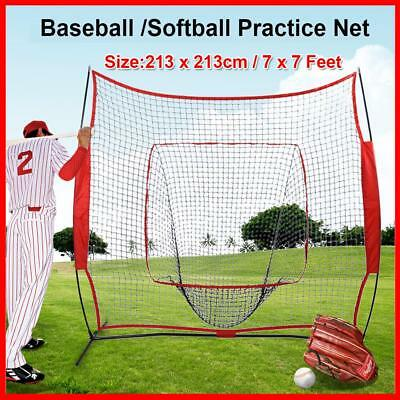 213*213cm Portable Softball Baseball Training Practice Net Tennis Outdoor Yard