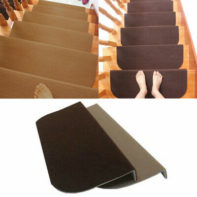 1/4/8Pcs Non-slip Adhesive Carpet Stair Treads Mats Staircase Step Rug Cover