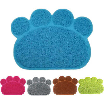 Cat Litter Tray Mat Face Shape Pet Dogs Puppy Dish Bowl Feeding Food Placemat