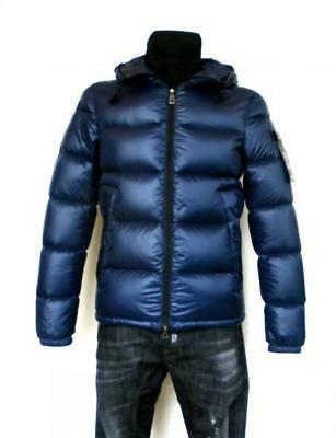 PEUTEREY down jacket man hooded jacket VELOSO blue
