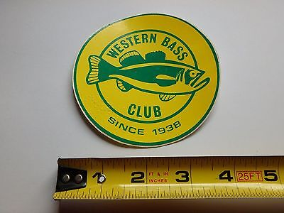 Western Bass Club Fishing Sticker Excellent Condition 4""