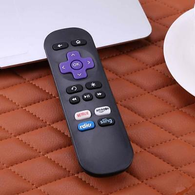 Latest Generation Replacement Remote for ROKU 1/ 2/ 3/ 4 LT HD XD XS Metal Black