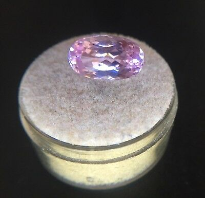 NATURAL Vivid Pink Kunzite 5.13ct Oval Cut Spodumene Loose Gem