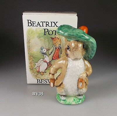 BEATRIX POTTER royal doulton BESWICK BENJAMIN BUNNY EARS & SHOES  FIGURINE - BOX