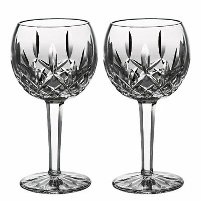 Waterford Crystal Classic Lismore Balloon Wine Glass, Set of 2, NIB