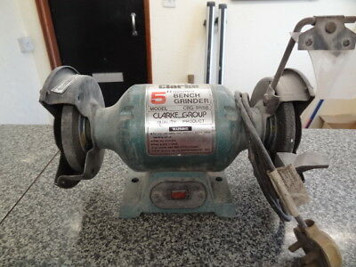 "Clarke 125Mm 5"" Bench Grinder 240V Good Working Order"