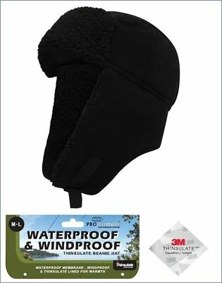 Mens Pro Climate Waterproof Windproof Genuine Thinsulate Fleece Trapper Hat 2e635ca5f57d
