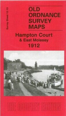 Hampton Court and East Molesey 1912: Surrey Sheet 12.13 (Old Ordn...