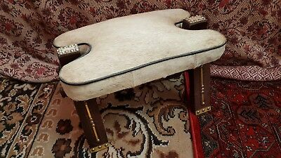 Vintage CAMEL SADDLE STOOL, Real Fur, nice condition. Small size