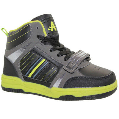 Boys Girls Black High Top Sports Trainers Ankle Boots Shoes Size