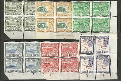 192 St. CRISTOPHER NEVIS ANGUILLA  S.G. 106a-111 N. 6 BLOCKS x 4  MNH**