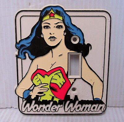 Vintage 1976 Wonder Woman Light Switch Outlet Wall Plate Cover-New Old Stock