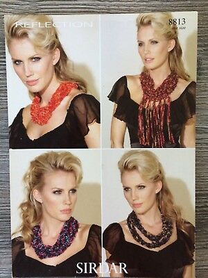Sirdar Reflection Knitting Pattern: Ladies  Scarves, One Size, 8813