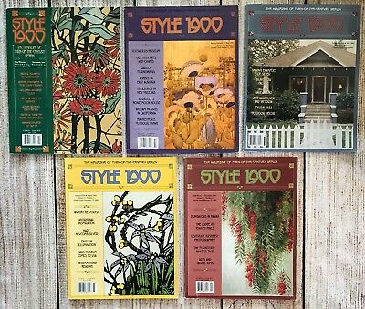 Lot Of 5 Style 1900 Magazines Quarterly Journal 2001 2002 2003 Vtg Arts & Crafts
