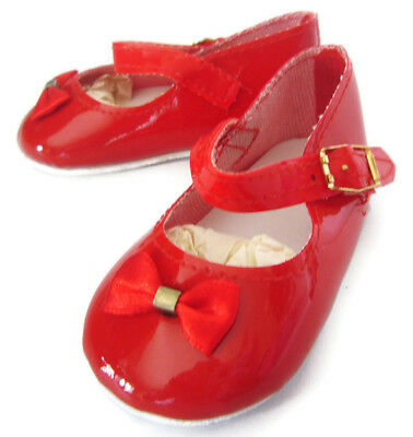 CHRISTMAS RED PATENT SHOES fits Chatty Cathy Doll Clothes
