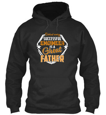 In style Fathers Day Engineer Dad, Papa - Behind Every Standard College Hoodie