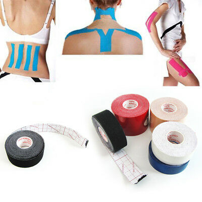 One Roll Elastic Kinesiology Sports Tape Muscle Pain Care Therapeutic 5cm*5M