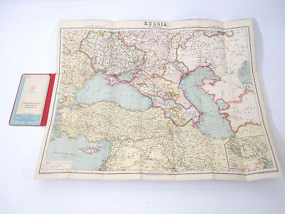 Antique / Vtg Philips Authentic Imperial Maps Tourists & Travelers South Russia